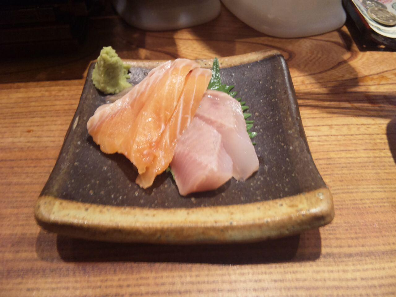 真ホッケ&時鮭の刺身〜