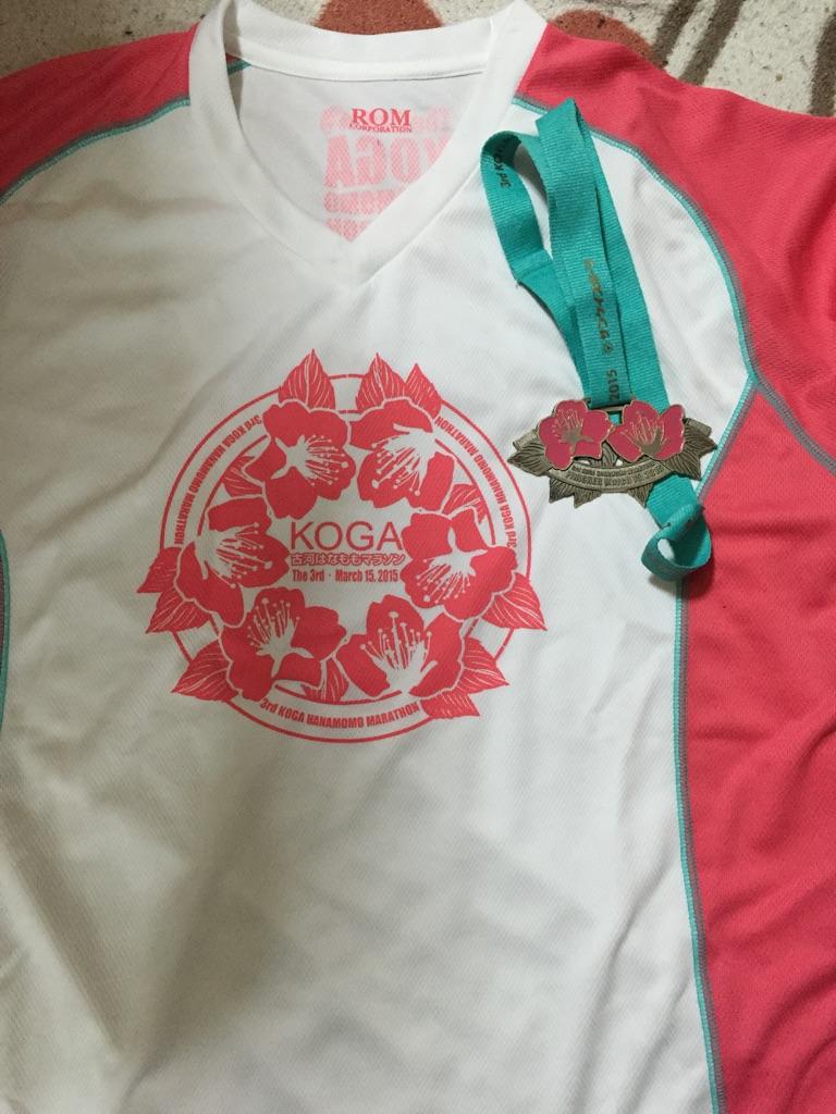 はなももTシャツと完走メダル